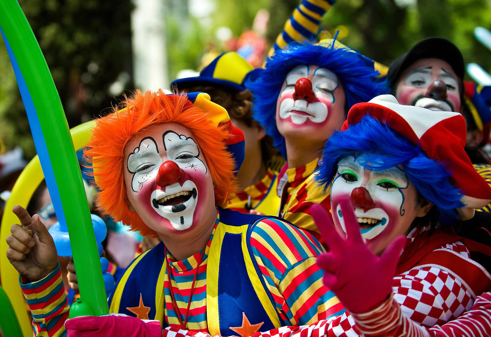 Фото: 1 апреля в Одессе, клоуны